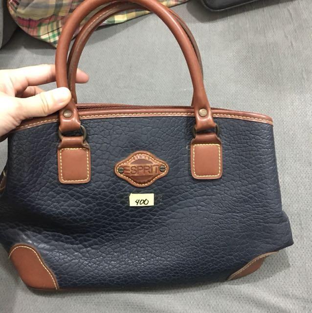 Esprit navy blue hand bag
