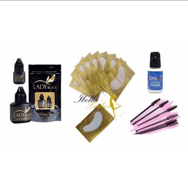 Eyelash Extension Supplies- Glue/Remover Gel/Eye Mask