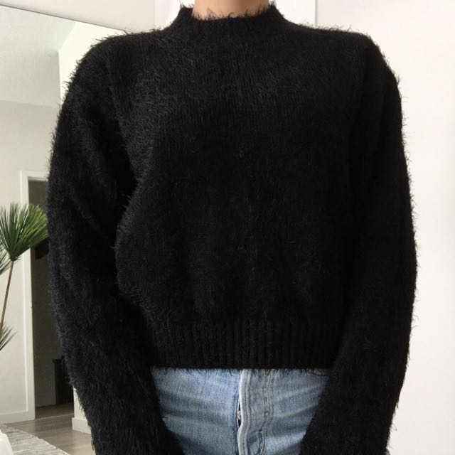 F21 Mohair Mock-neck Sweater