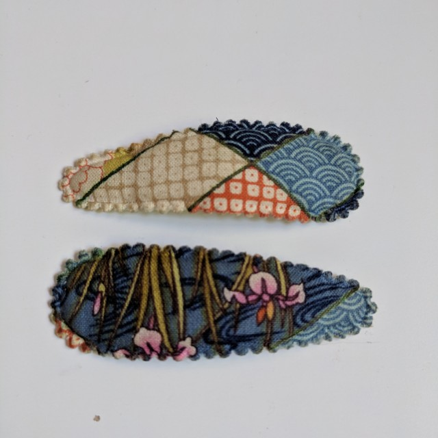Fabric Covered Hair Clips that are Removable!