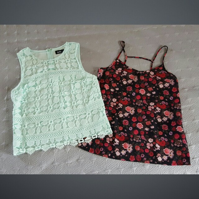 *NEW* Floral And Lace Summer Tops Size 6