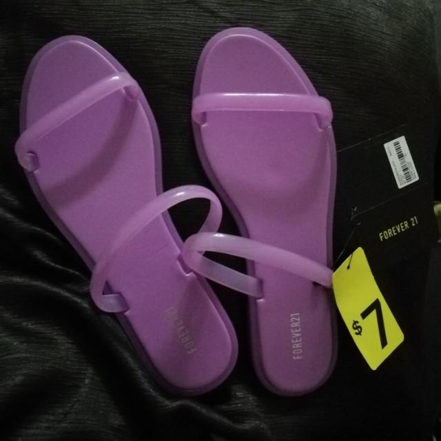 Forever 21 jelly slippers