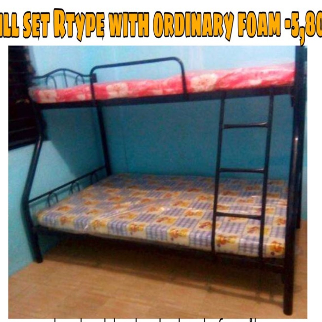 full set rtype bed double deck with ordinary foam