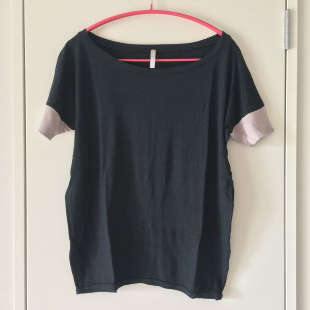 GAP Black And Brown Short-sleeve Comfort Top Size XS