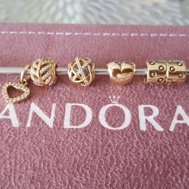 Genuine 14kt Gold Pandora Charms