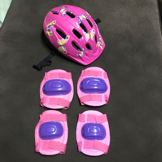 Girl's Helmet, Knee & Elbow guard set