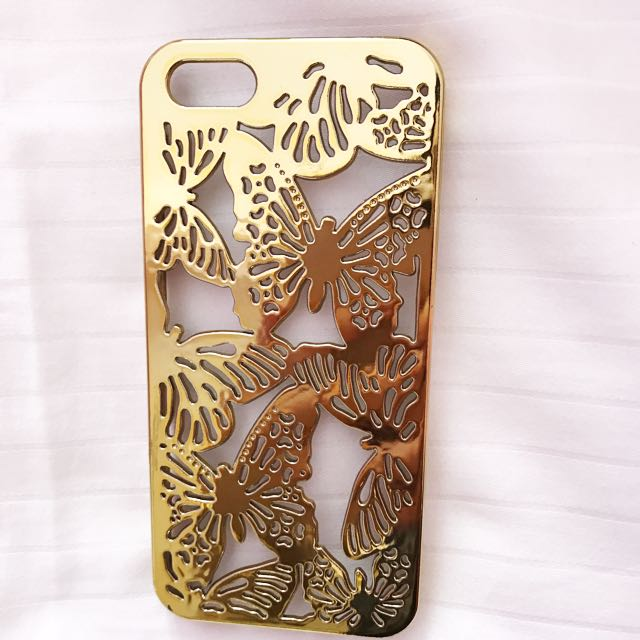 GOLDEN BUTTERFLY CUTOUT CASE (iphone 5/5s)
