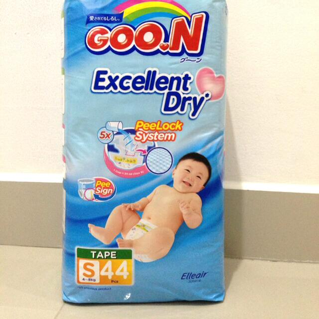 Goon Diapers - Excellent Dry Size S. Isi 44. Tipe Perekat