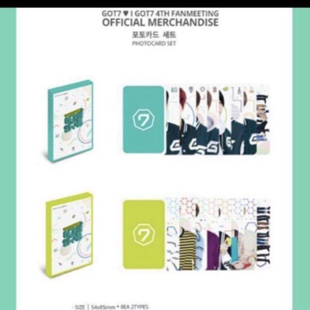 Got7 4th Fanmeet Photocard Set A + B