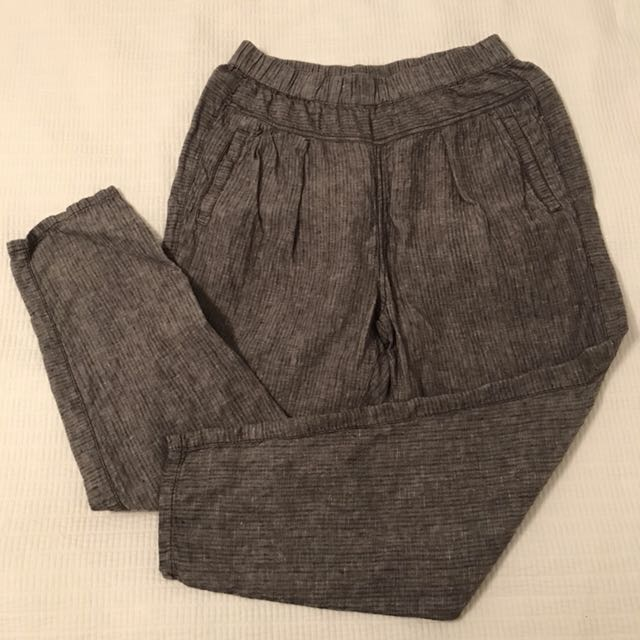 Grey Linen Pants from Anthropologie size xs