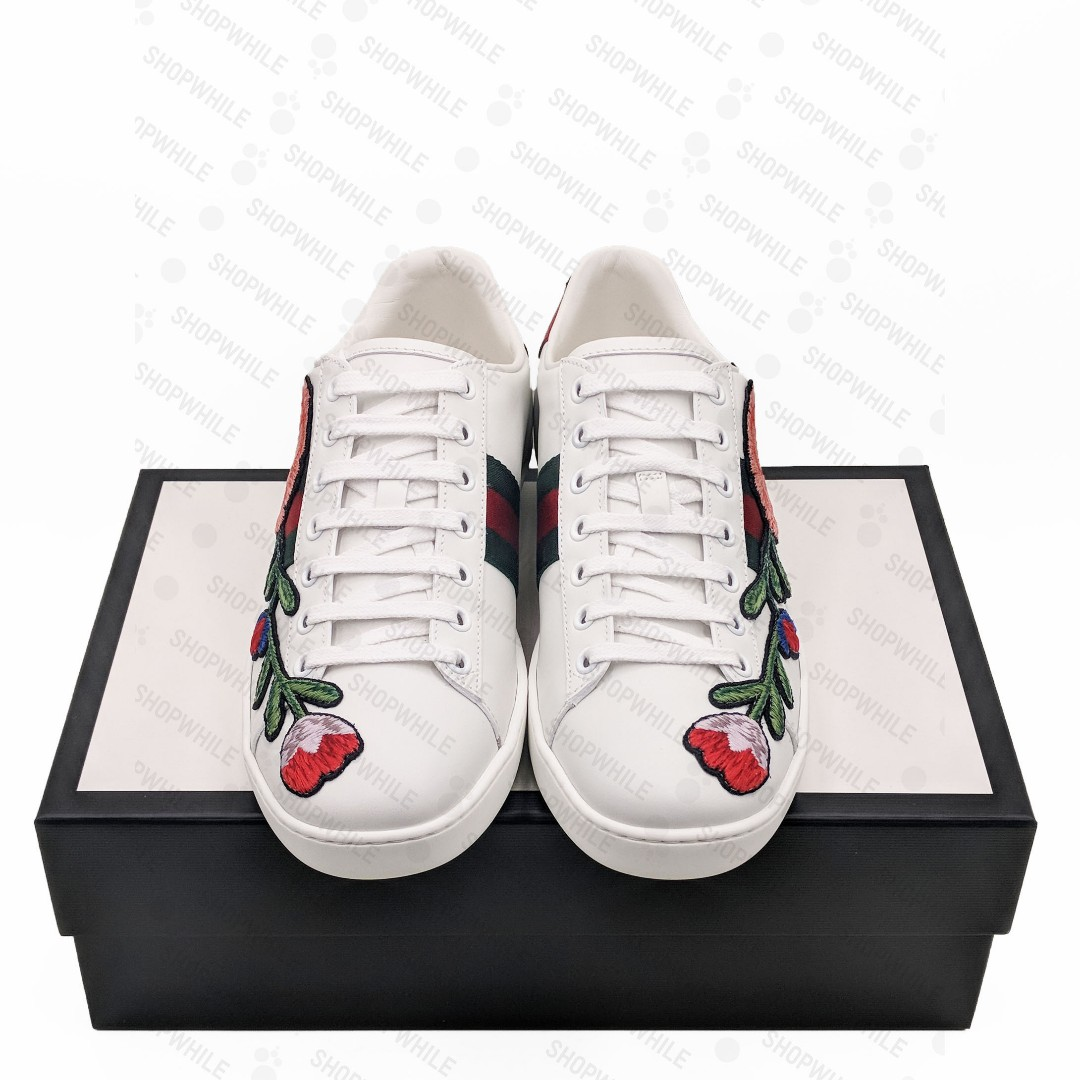68903753a Gucci Ace embroidered sneaker White Leather (431917-A38G0-9064) on Carousell