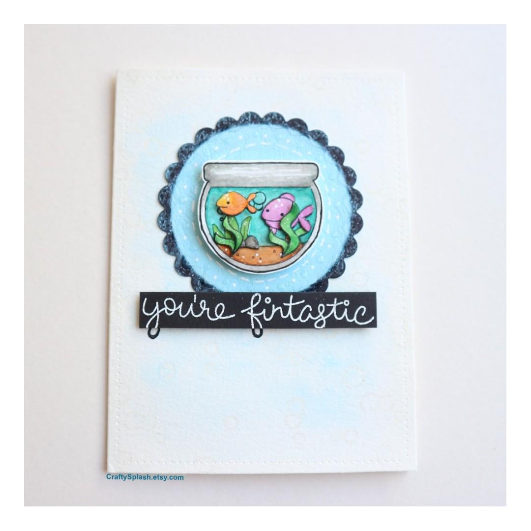 Sale handmade greeting card fish bowl card fish youre fintastic sale handmade greeting card fish bowl card fish youre fintastic valentines day design craft handmade craft on carousell m4hsunfo