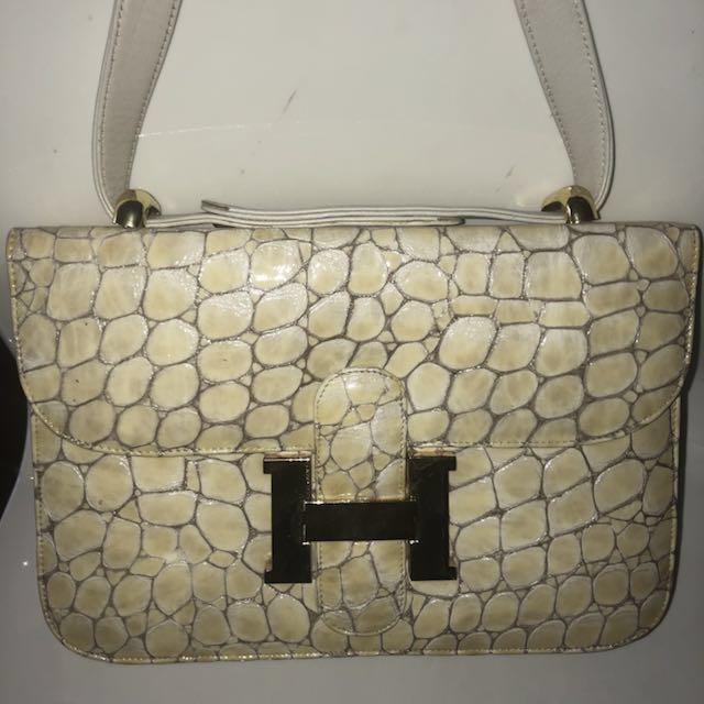 Hermes crocodile leather