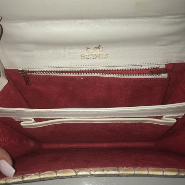 Hermes crocodile leather purse