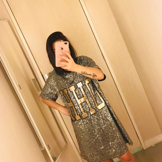 h&m bling sequin dress