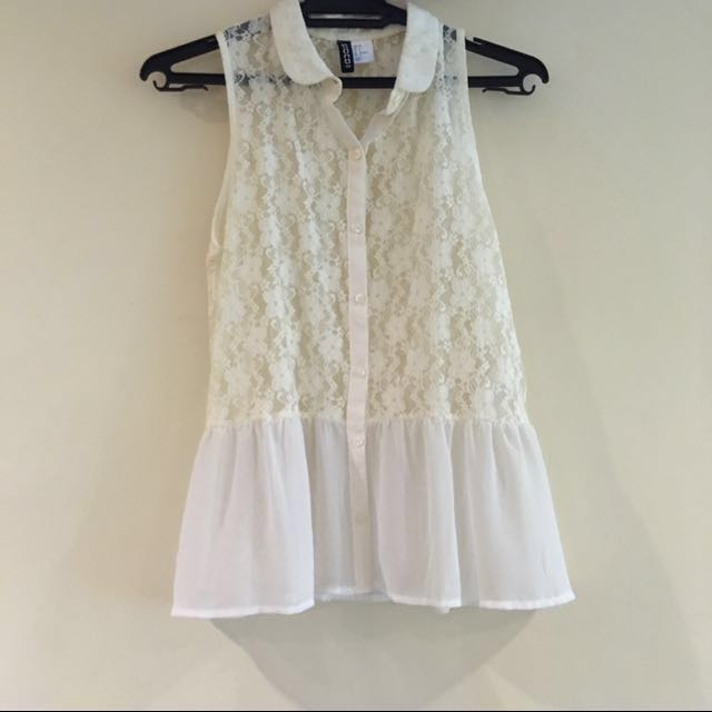 H&M Lacey Sleeveless Top