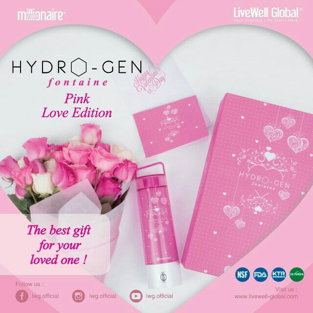 Hydrogen Fontaine Ionizer Pink Love limited edition