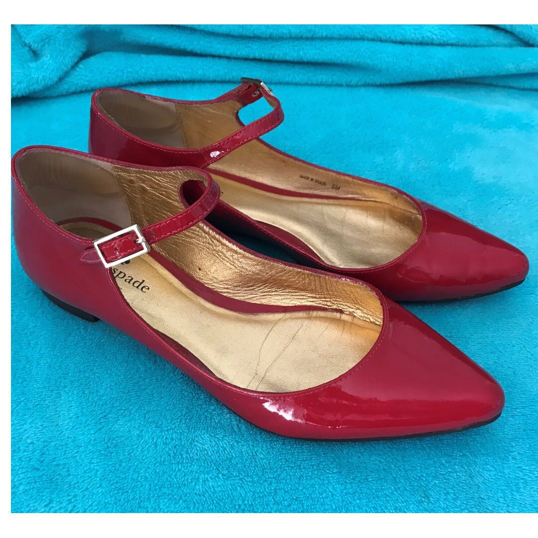 Kate Spade Patent Leather Mary-Jane Flats 6 to fit 5 to 5.5