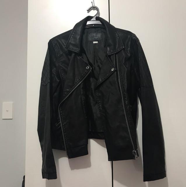 Leecooper black leather coat
