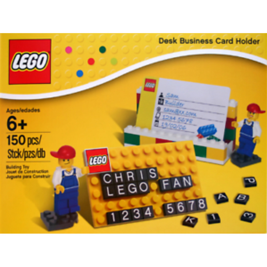 Lego Desk Business Card Holder 850425, Toys & Games, Bricks ...