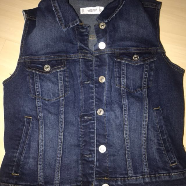Mango Sleeveless Denim Jacket