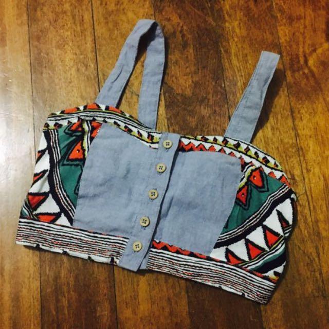 Maong aztec top