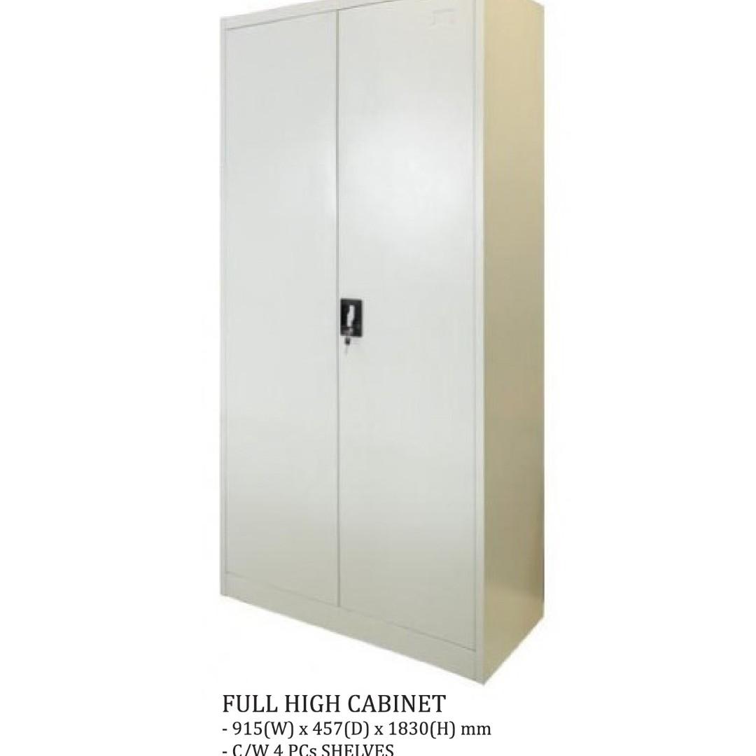 Full Height CABINET Steel Wardrobe Shelf Bookcase Bookshelf, Furniture,  Shelves U0026 Drawers On Carousell