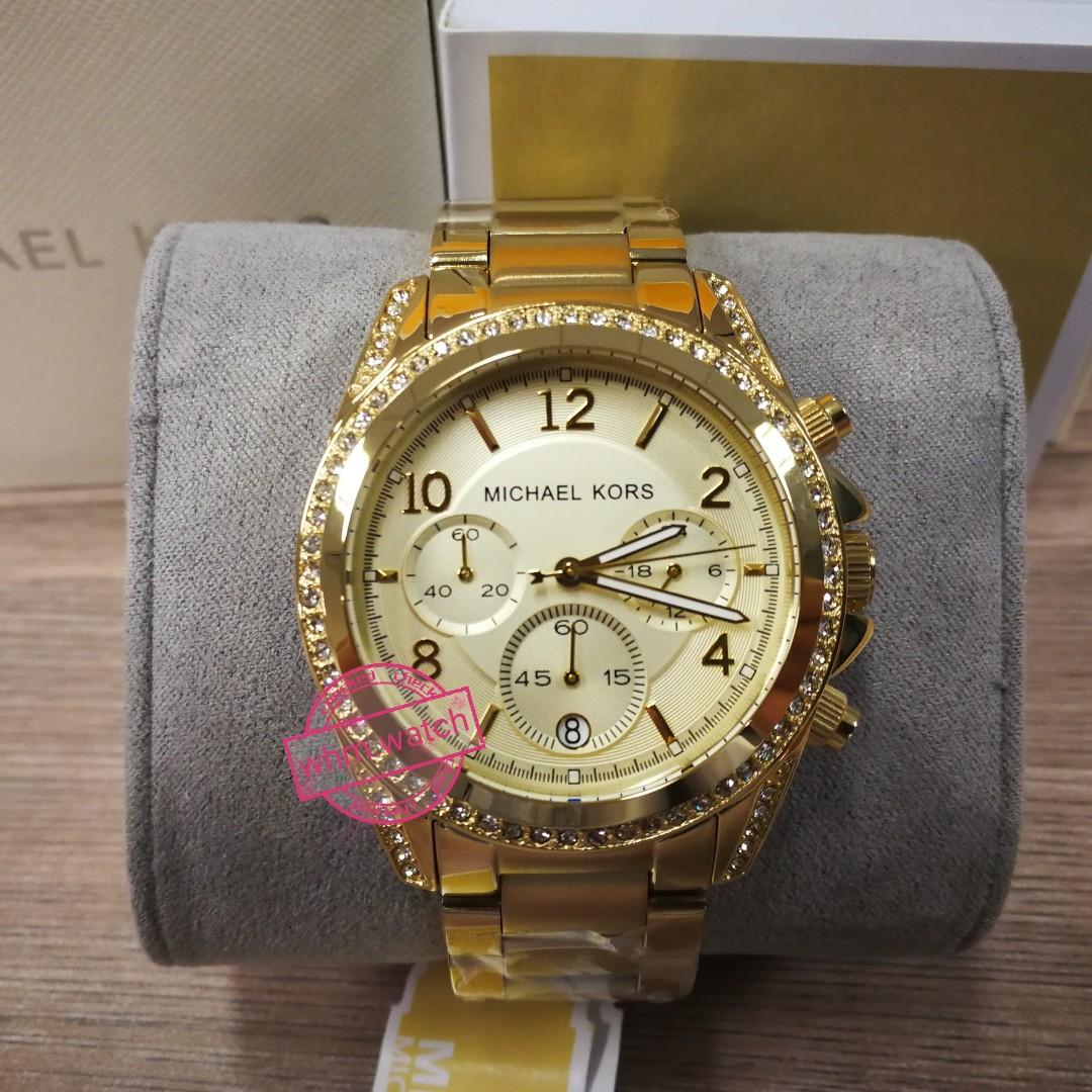 a402876cb12e MICHAEL KORS Golden Blair Glitz Watch MK5166