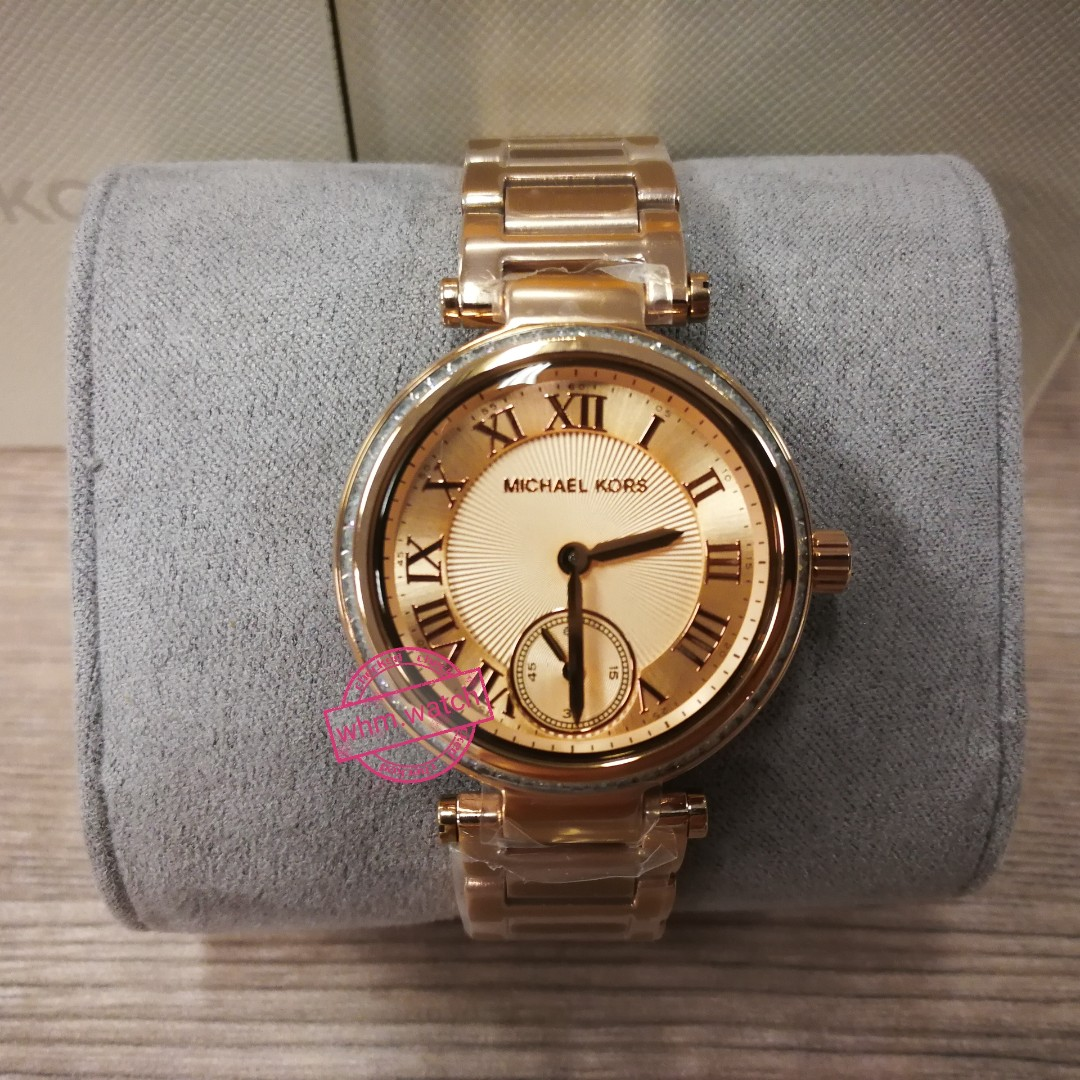 57a74f74ebd MICHAEL KORS Skylar Rose Gold Dial Rose Gold-tone Ladies Watch ...