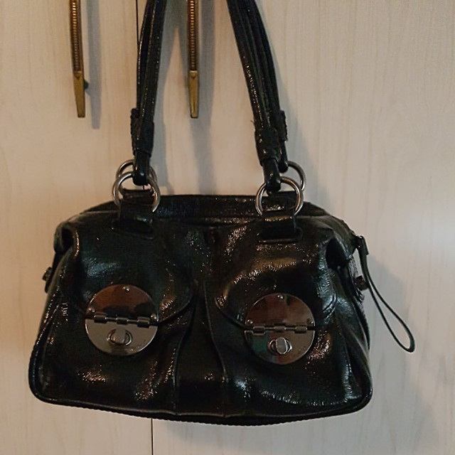 mimco patent leather bag