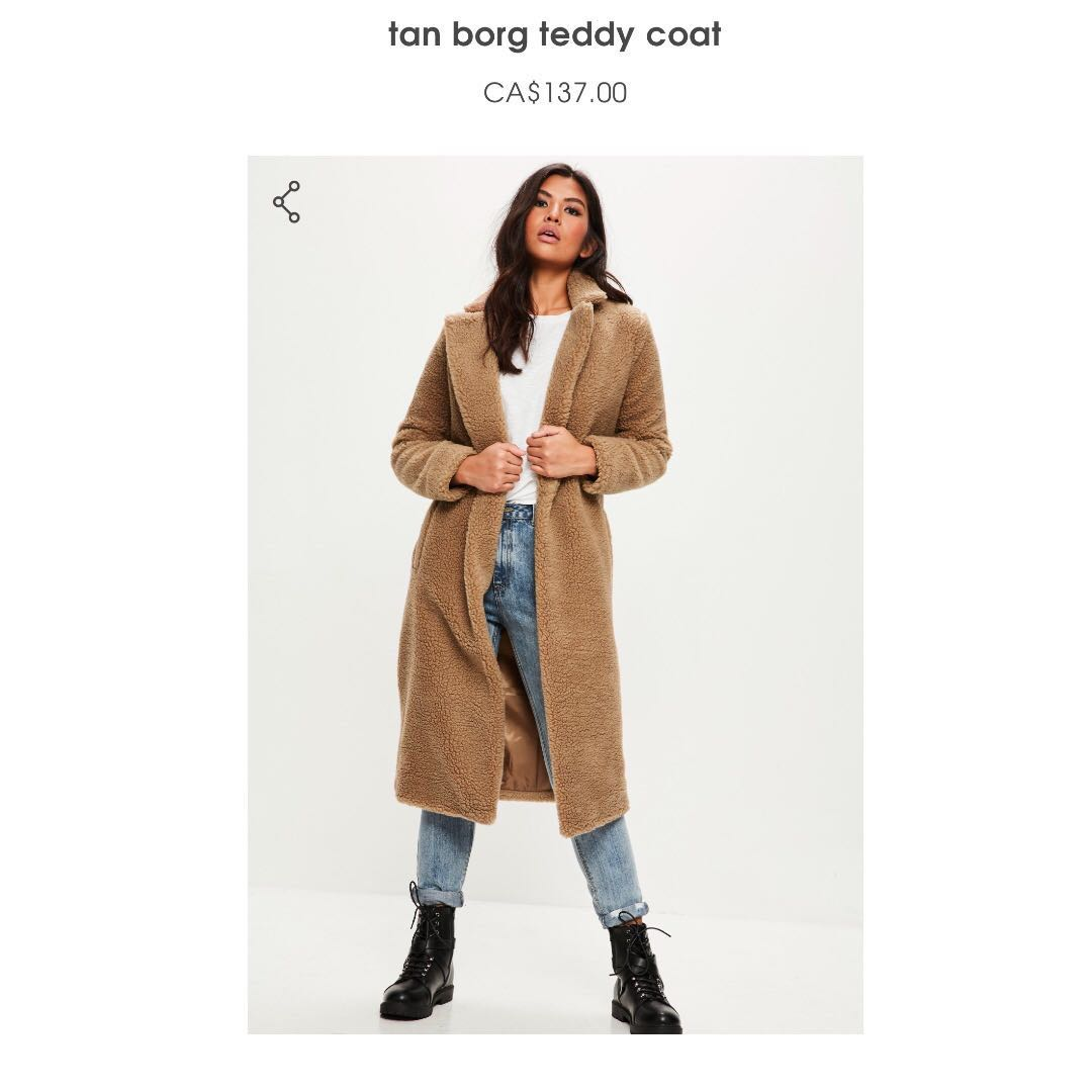 Missguided Teddy Coat BNWT