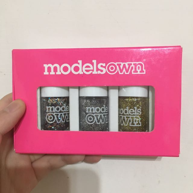 Modelsown英國品牌亮片指甲油3入組