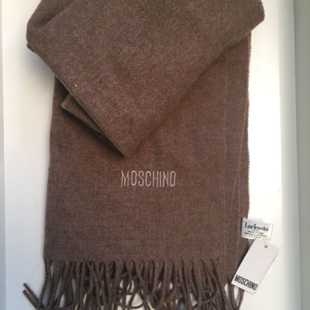 Moschino Scarf chocolate color
