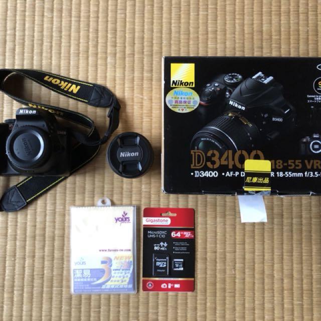 Nikon D3400+18-55mm鏡頭
