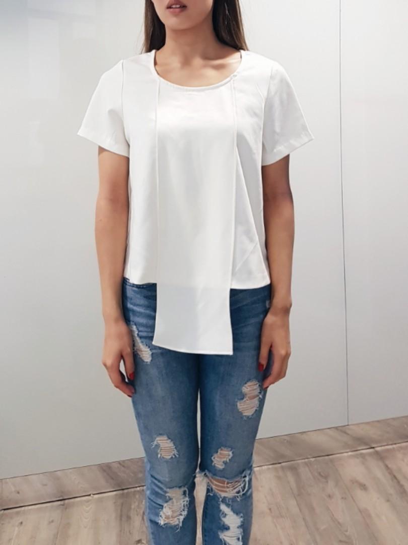 Off white cream blouse t-shirt