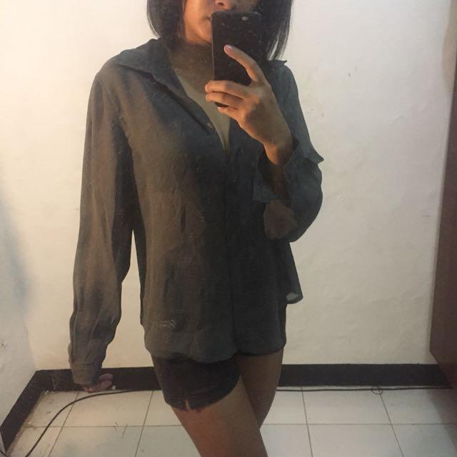 Oversized Grey blouse