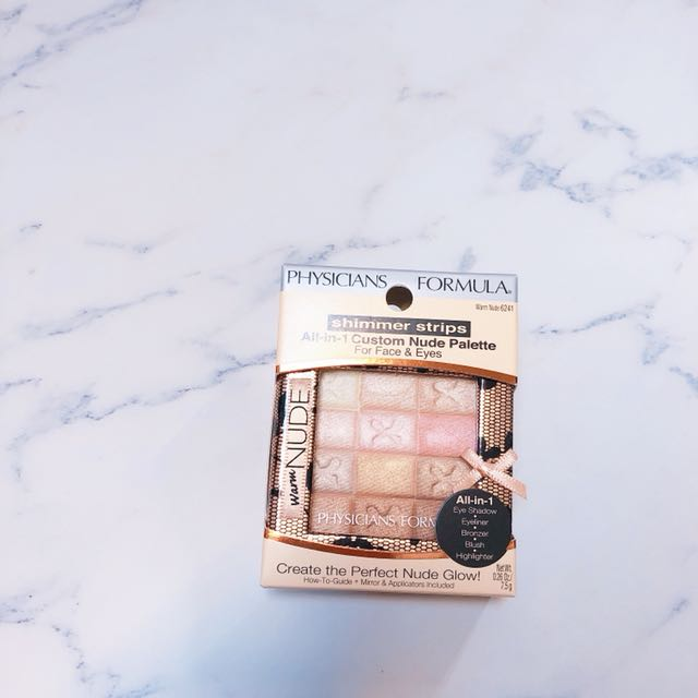PHYSICIANS FORMULA shimmer strips All-in-1 Custom Nude Palette For Face&Eyes  Warm Nude 6241