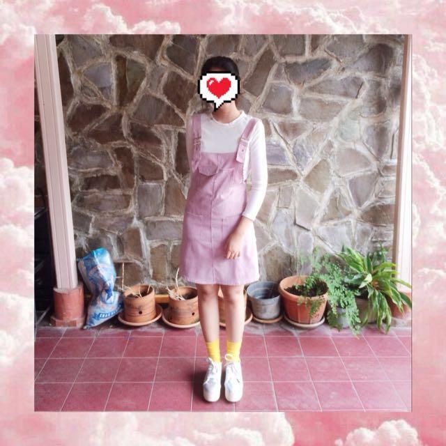 Pink skirt jumpsuit