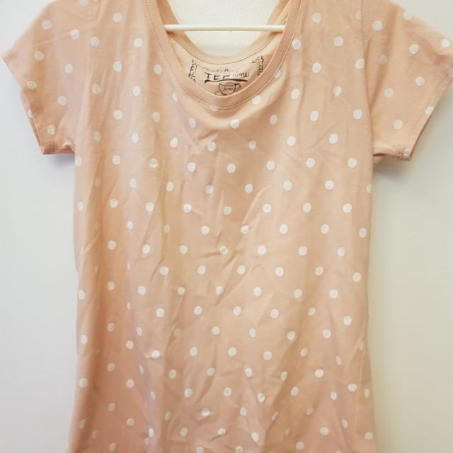 Polkadots top (pink)