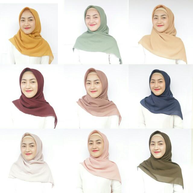 Pollycotton square hijab
