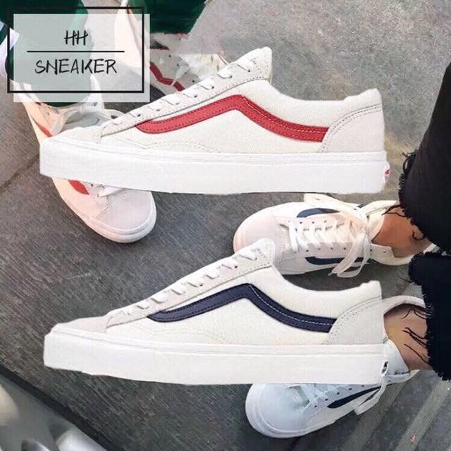0a37fc8d51 Pre-order Vans white red blue stripe GD style 36 marshmallow women s ...