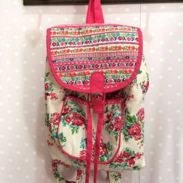 REPRICE summer floral pink mini backpack