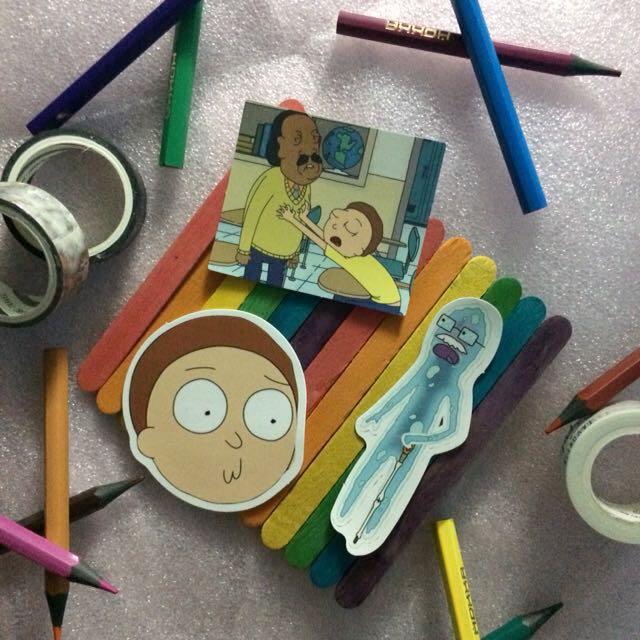 Rick & Morty Sticker Decals Set