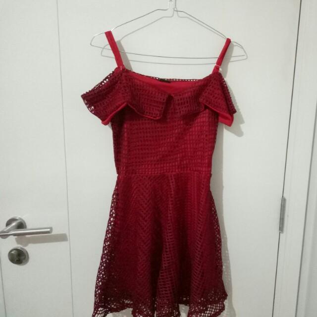 Sabrina Red dress cny