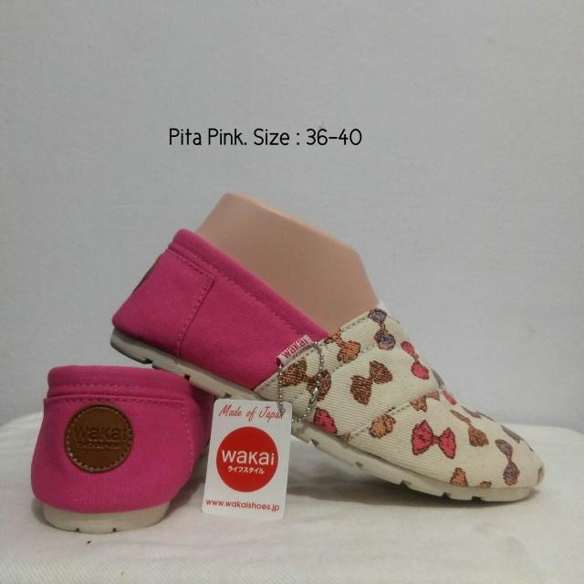 Sepatu wakai pita pink ...