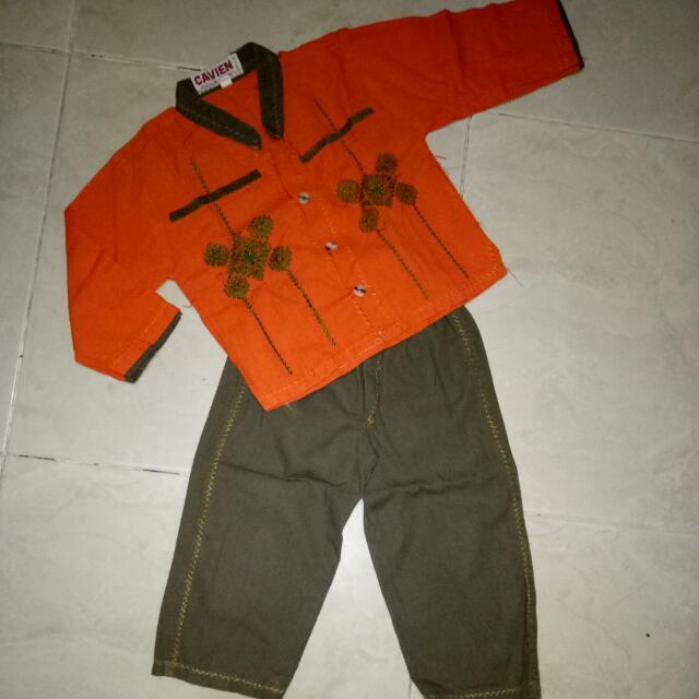 Setelan Baju Muslim Anak Cowok Orange