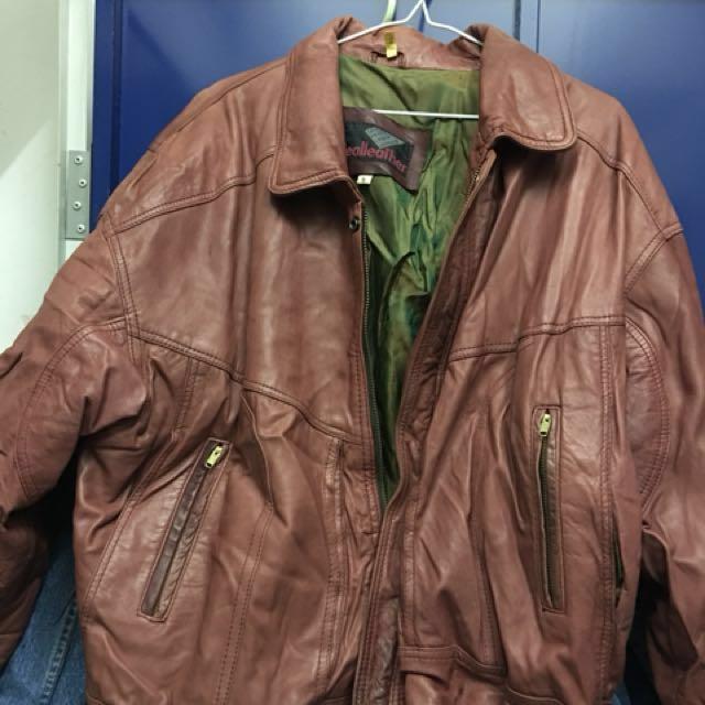 Sheepskin leather jacket 磚紅色復古羊仔皮褸 #welcomewinter