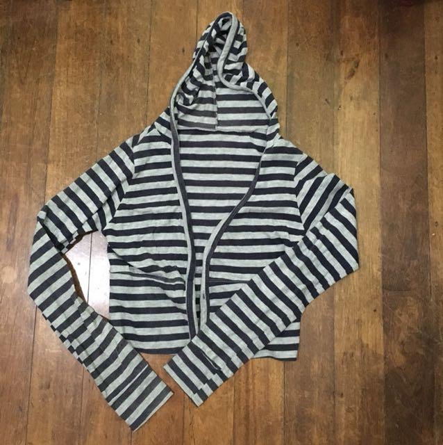 Striped Hanging hoodie