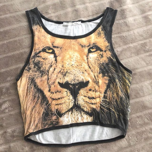 Stussy Crop Top - Lion face