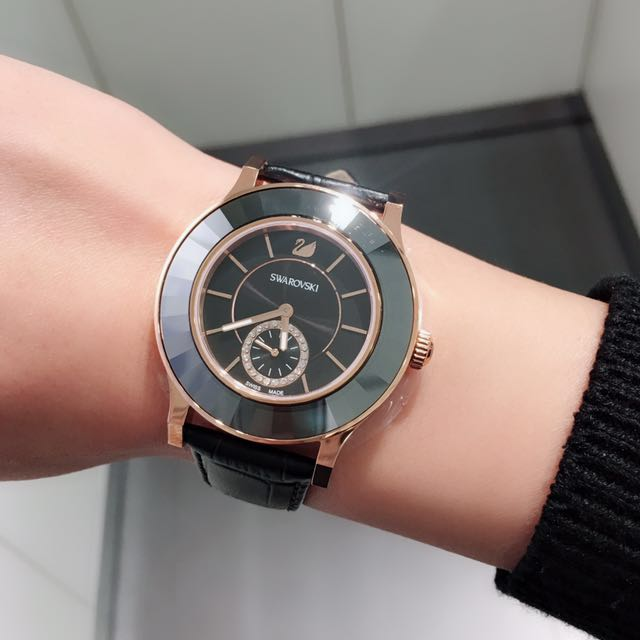 Swarovski 施華洛世奇 陶瓷玫瑰金手錶